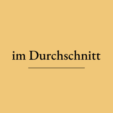 【ドイツ語学習】im Durchschnitt の意味と使い方