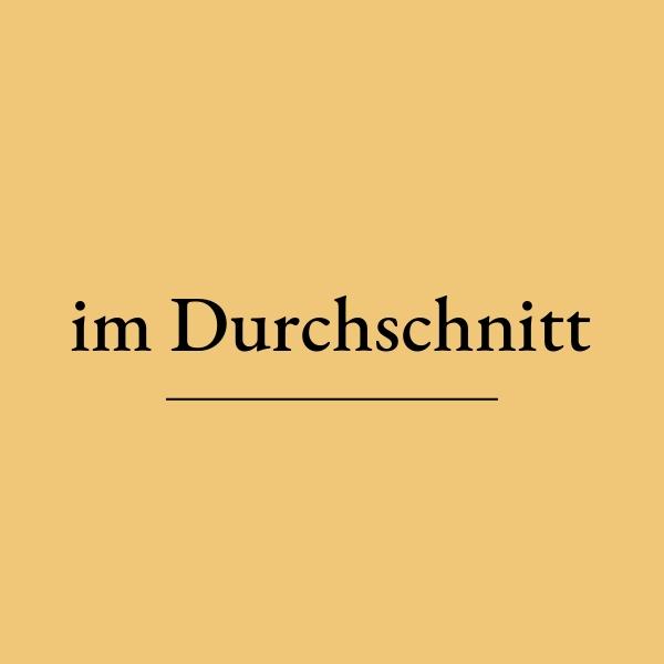 ドイツ語 im Durchschnittの意味は?