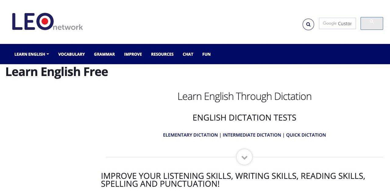 イギリス英語のディクテーションサイトEnglish_Dictation
