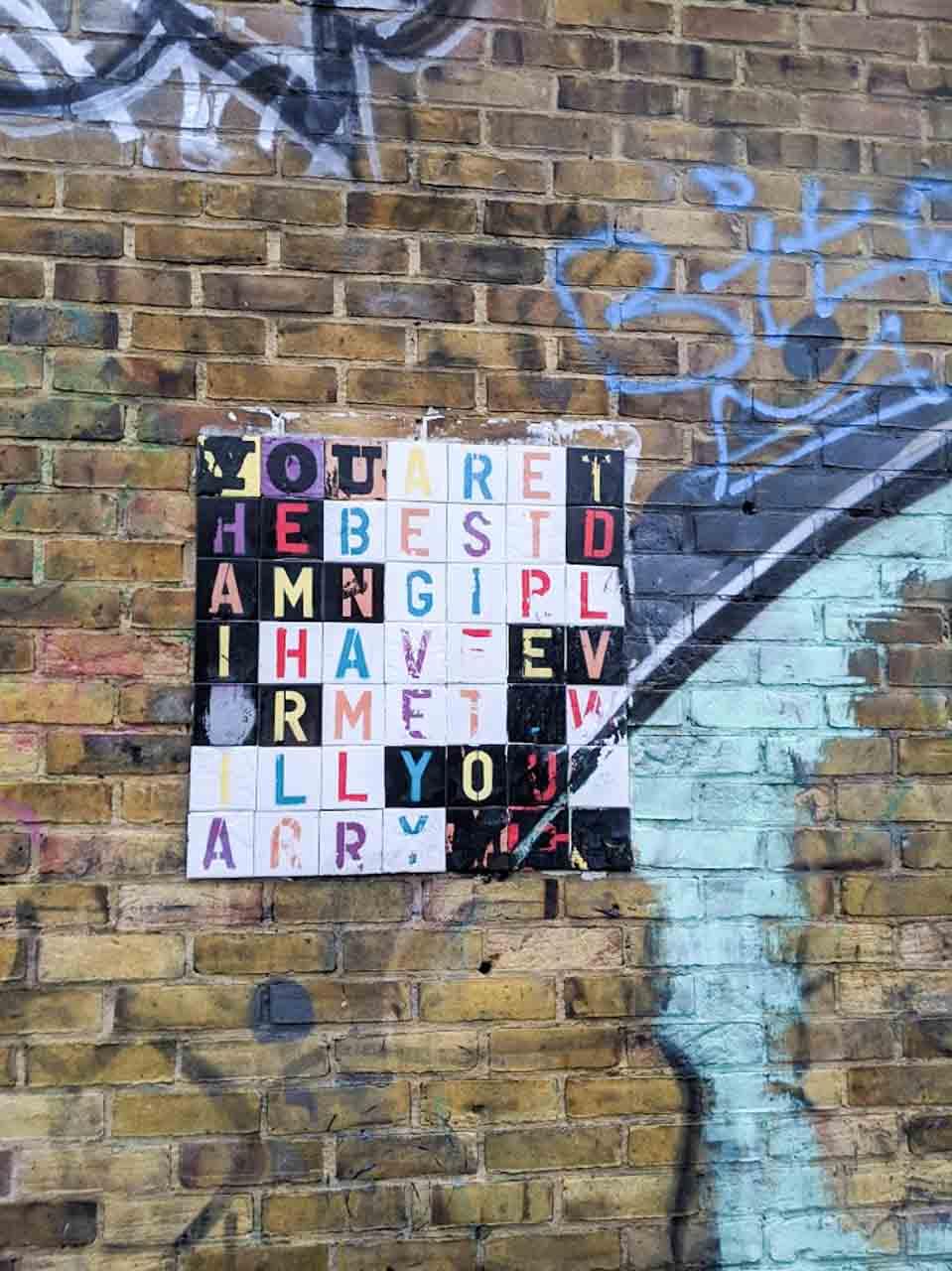 ロンドンのプロポーズアート