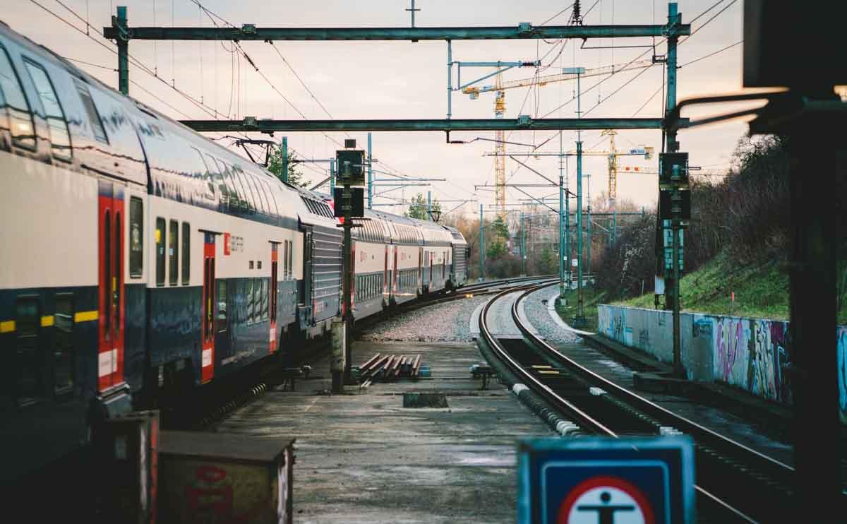 スイスの鉄道の案内